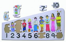Puzzle Children Counting Tray