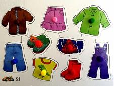 Big Peg ''Clothes '' Puzzle