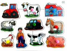 Big Peg Puzzle 'Farm'