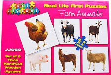 Real Life Puzzles Farm Animals