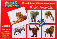 Real Life Puzzles Wild Animals