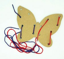 Lacing Board & Laces Butterfly