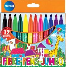 Jumbo Fibre Markers(12)