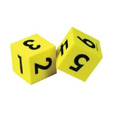 Foam Number Dice (2)