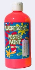 Fluorescent Poster Paint Red