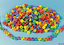 Lacing Col Foam Beads w Letter