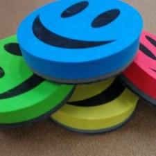 Magnetic Eraser Smiley Face.