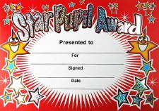 Award Certificate - Star Pupil