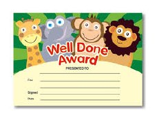 Award Certs - Well Done  (20)