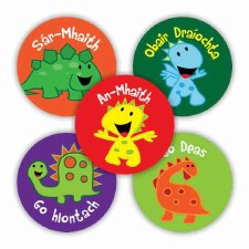 Irish Merit Stickers - Dino's