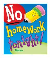 No Homework Tonight Reward