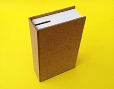 Wooden Book Money Box