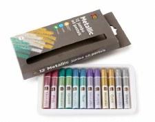 Jumbo Metalic Oil Pastels (12)