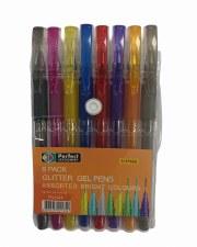 Gel Pens (8's) - Asst Glitter