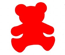 Bear Wall Decoration - Red