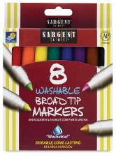 Washable Broad Tip Markers (8)