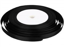 Satin Ribbon (6mm) Black