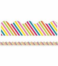 Scalloped Trim - Stripes