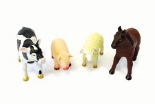 Soft Rubber Animal Farm Set