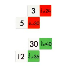 Number Fraction Dominos