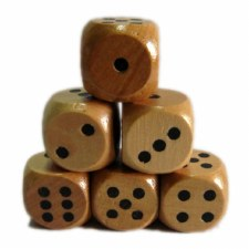 25mm Wooden Dice (10)