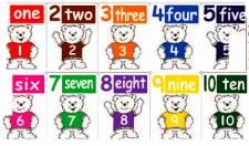 Teddy Bear Cards 1-10