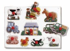 Big Peg Puzzles Farm