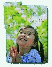 Puzzle Emotions Smiling Girl