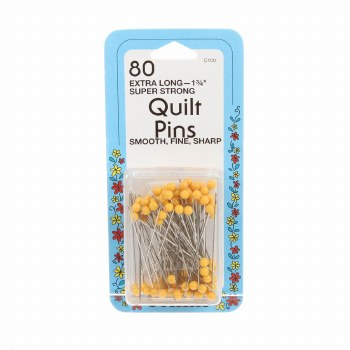 """Quilting Pins - 80, 1 3/4"""""""