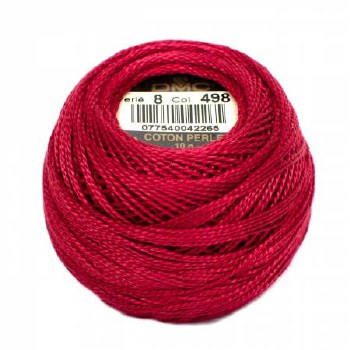 DMC Pearl Cotton 498 Dk Red
