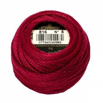 DMC Pearl Cotton 816 Garnet