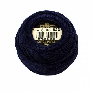 DMC Pearl Cotton 823 Dark Navy