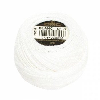 DMC Pearl Cotton White