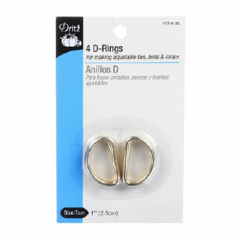 """D Ring Gold 1"""""""