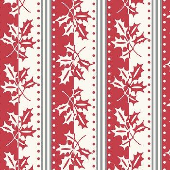 Winter Berries Stripe Crimson