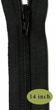 "Zipper 14"" Basic Black"