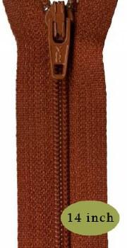 """Zipper 14"""" Gingerbread"""