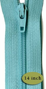 "Zipper 14"" Misty Teal"