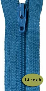 "Zipper 14"" Turquoise Splash"