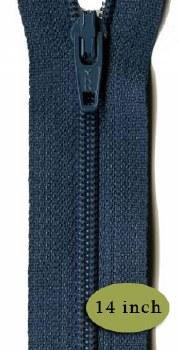 """Zipper 14"""" Bristol Blue"""