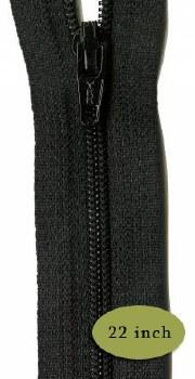 """Zipper 22"""" Black"""