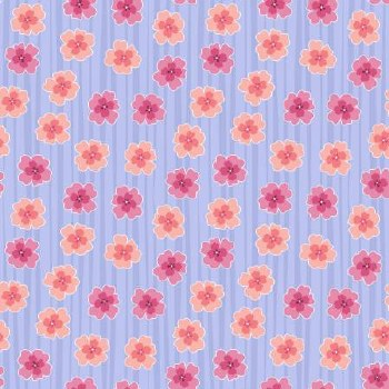 Full Bloom Floral Stripe Lilac