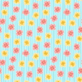 Full Bloom Floral Stripe Lt Tu