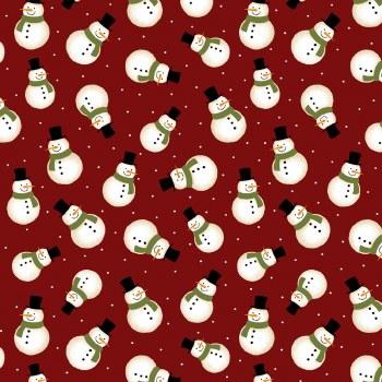 Jingle Bell Flannel Snowman Re