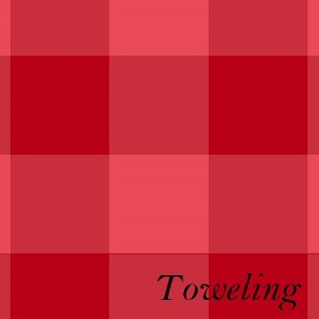 """Toweling 20"""" Buffalo Check Red"""