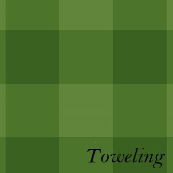 "Toweling 20"" Buffalo Check Gre"