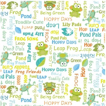 Toadily Cute Words White