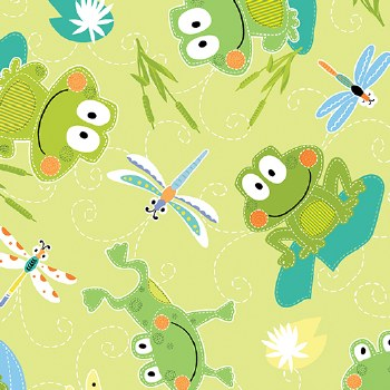 Toadily Cute Frogs Lime
