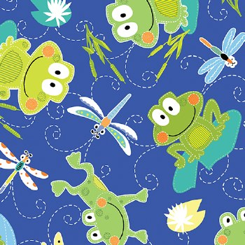 Toadily Cute Frogs Blue