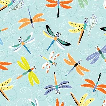 Toadily Cute Dragonflies Aqua